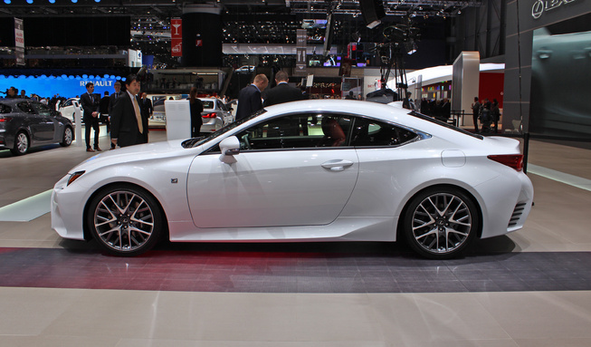 the 2015 lexus rc 350 f sport at the geneva motor show. Black Bedroom Furniture Sets. Home Design Ideas