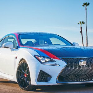 la clippers themed lexus rc f front