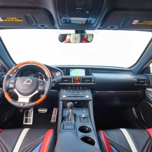 la clippers themed lexus rc f interior